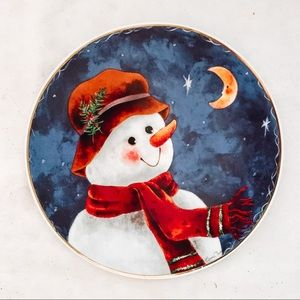 Elaine Thompson Holiday Snowman Serving Plate